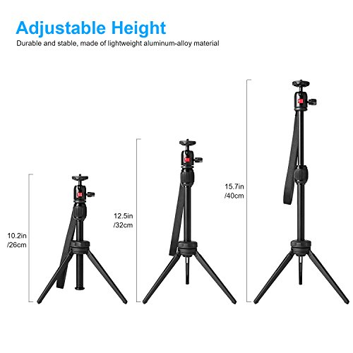 Nebula Capsule Adjustable Tripod Stand, Myriann Aluminum Alloy Portable Projector Stand for Pico Projector, Pocket Projector, and Mini Projector with Universal Mount and Swivel Ball Head by MYRIANN (Image #5)