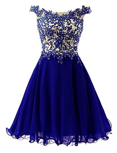 Cdress Straps Lace Bodice Short Junior Homecoming Dresses Chiffon Prom Formal Gowns US 18W