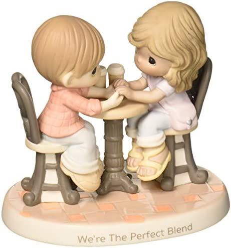 Precious Moments We re The Perfect Blend Couple With Coffee Bisque Procelain Figurine 181040