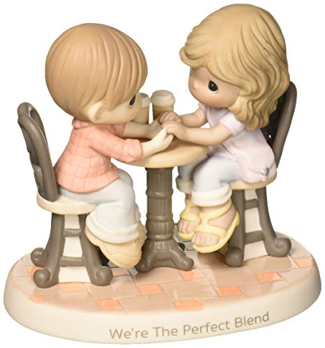 (Precious Moments We're The Perfect Blend Couple With Coffee Bisque Procelain Figurine 181040)