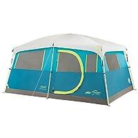Tienda de campaña Coleman para 8 personas con armario empotrado | Carpa de cabaña Tenaya Lake con configuración de lanzamiento rápido