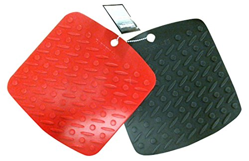 Farberware Professional Set of 2 Silicone Trivets, Red and Black