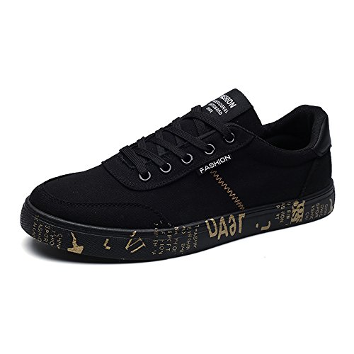 Männer - leinwand schuhe wenig atmungsaktiv leinwand schuhe tragen schuhe mit leinwand - mode,schwarzes Gold,43