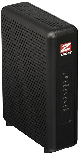 Zoom 8x4 Cable Modem, 343 Mbps DOCSIS 3.0, Model 5345, Certified by Comcast XFINITY, Charter Spectrum, Time Warner...