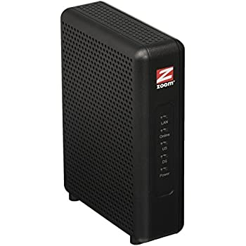 Zoom 8x4 Cable Modem, 343 Mbps DOCSIS 3 0, Model 5345, Certified by Comcast  XFINITY, Charter Spectrum, Time Warner Cable and Other Service Providers