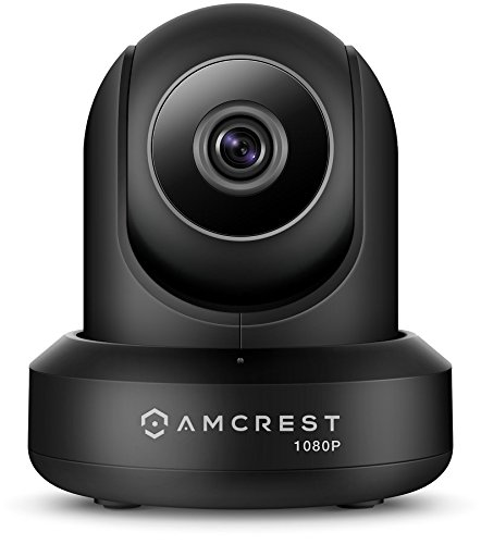 Amcrest ProHD 1080P POE Power Over Ethernet IP Camera with Pan Tilt, Two-Way Audio, Optional Cloud Recording, Wide 90 Viewing Angle and Night Vision IP2M-841EB Black Renewed