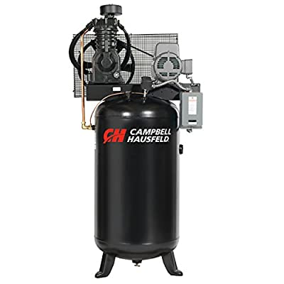 Air Compressor, 80 Gallon, Vertical Tank, Two Stage, 17.2CFM, 3PH (Campbell Hausfeld CE7051)