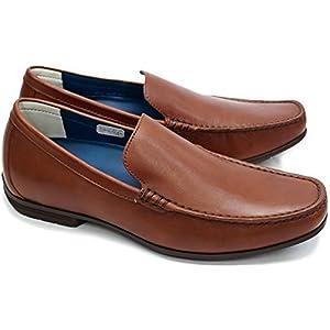 [リーガル] 靴 スリッポン モカシン 56HR メンズ レザー カジュアルシューズ ヴァンプ ドライビング Slip-on ブラウン 23.5cm
