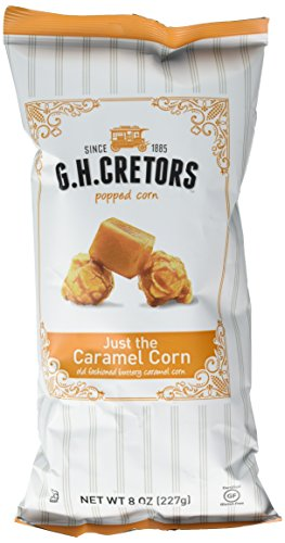 Caramel Covered Popcorn - G.H. Cretors Popcorn, Just the Caramel Corn, 8-Ounce Bags (Pack of 12)