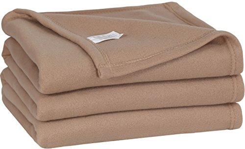 New Utopia Bedding Soft Brush Fabric Warm Lightweight Queen (90-inch-by-90-Inch) Polar Fleece Couch ...