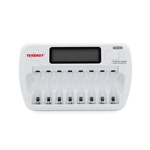 Price comparison product image Tenergy TN162 8-Bay Smart LCD AA / AAA NiMH / NiCd Battery Charger