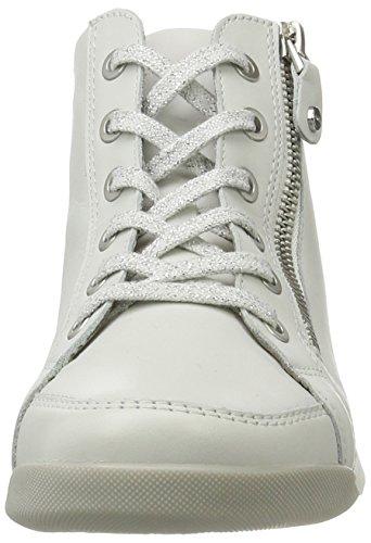 Ara Rom-Stf, Zapatillas Altas para Mujer Weiß (Weiss,silber)