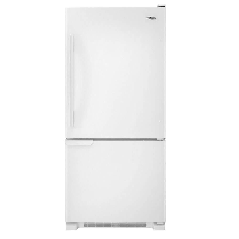 Amana ABB1921BRW 18.5 Cu. Ft. White Bottom Freezer Refrigerator - Energy Star