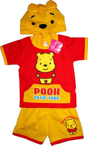 d520a20c2ed4 Disney Winnie The Pooh Bear Boys Girls Fancy Dress Costume Size XL Age 4-5  Years T Shirt and Shorts Kids Childrens Outfit Set Clothes Toy   Amazon.co.uk  ...