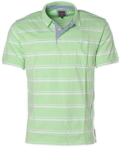 Kitaro Herren Poloshirt Polo T-Shirt Grün gestreift L