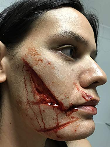 SFX Makeup/Glasgow Smile Silicone Flat Moulds/Chelsea Smile/Joker Smile/Flesh Wound/Special Effects -