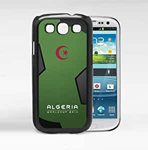 Algeria World Cup 2014 Pro Soccer Sports Team with Green and Black Background Hard Snap on Case Cover Samsung Galaxy I9300 s3