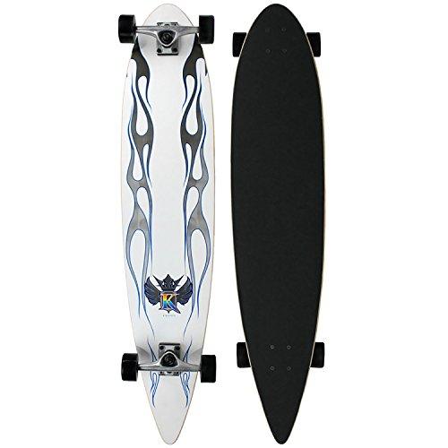 - Krown Classic White Pintail Longboard (9 x 43-Inch)