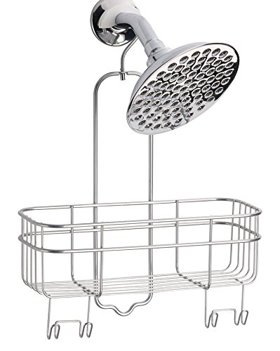 InterDesign Euro Shower Hanging Caddy Organizer with Swivel Hook and Storage Basket for Bathroom Shower – (Swivel Caddy)