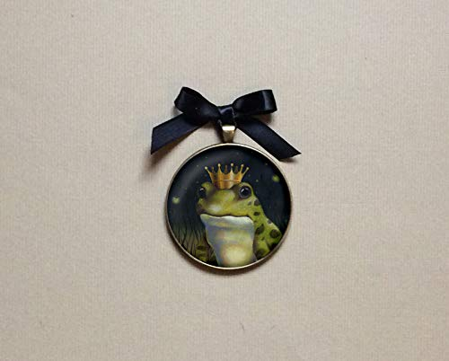 Frog Ornament, Frog Prince Ornament, Christmas Ornament, Frog Portrait, Toad Art, Frog Art, Animal Portrait Ornament, Kiss the Frog, Prince Charming,