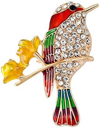 1Xかわいい鳥黄色葉ブローチピン女性コサージュ子供誕生日ギフト襟ラペルバッジジュエリースカーフショールクリップ女性ジュエリーバッグ飾り男性ギフト耐久性と便利
