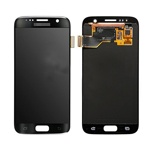 LSHtech LCD Display Touch Screen Digitizer Assembly for Samsung Galaxy S7 SM-G930 with free tools (Black)