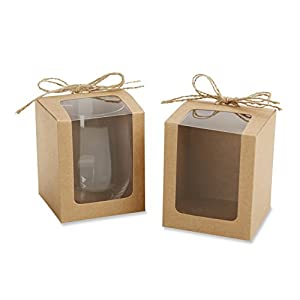 Amazon.com: Kate Aspen Kraft Style Gift Boxes for Stemless Wine ...