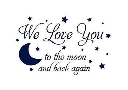 Amazoncom Athena Bacon Vinyl Sitcker We Love You To The Moon Back