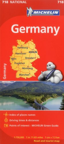 Michelin Germany Map 718 (Maps/Country (Michelin))