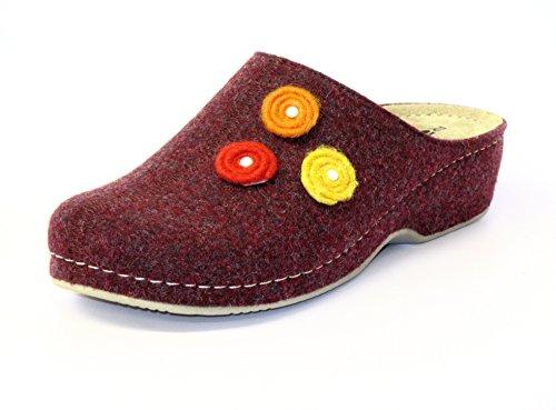 Rohde Emden Damen Pantoffeln Rot