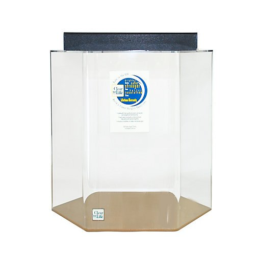 15 gallon clear acrylic hexagon aquarium