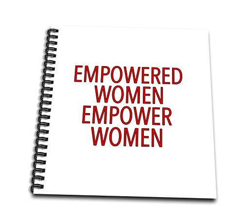 3dRose EvaDane - Inspirational Sayings - Empowered Women Empower Women Red - Mini Notepad 4 x 4 inch (db_308803_3)