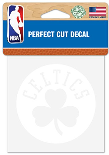 "WinCraft NBA Boston Celtics Logo 4"" x 4"" inch Outdoor White Decal"
