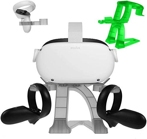 MASiKEN Virtual Reality Stand for Oculus Quest 2/Quest/Rift S/HTC Vive/Valve Index,Headset Display Holder and Controller…