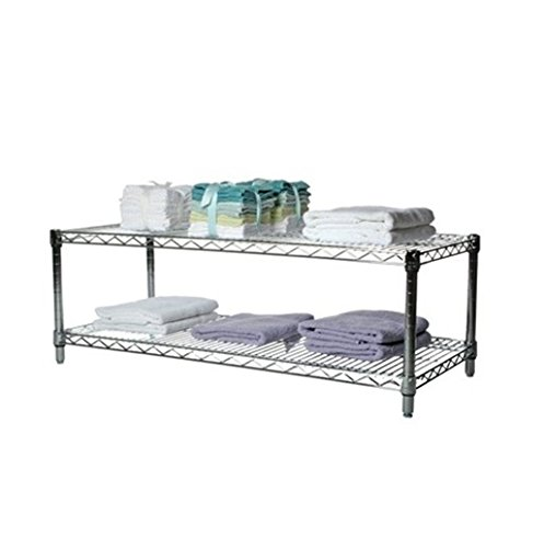 Commercial Chrome Wire Unit 14 x 48 - 2 Shelf Unit - 14'' Height