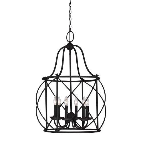 (Sea Gull Lighting 5116406-839 Six 5116406-839-Six Light Hall/Foyer, Blacksmith Finish)