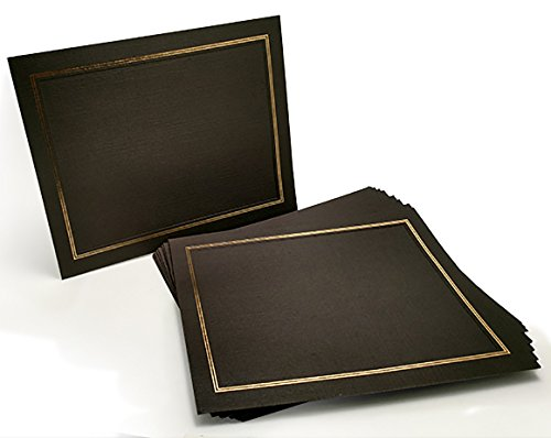 (Certificate Holder - Award Certificates Folder - Certificate Covers - Diploma Folder - Award Certificate Holder - 10-Pack Dual Easel Card Stock Frame for Certificates with Gold foil Border - 8.5 x 11)