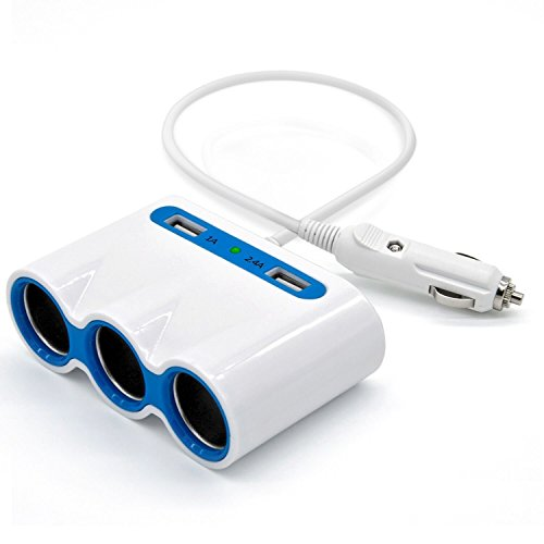 Cigarette Lighter 3 Socket Splitter Multi functions product image