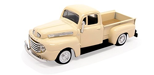 Ford F1 Truck Pickup - 1948 Ford F-1 Pickup Truck, Cream - Road Signature 94212 - 1/43 Scale Diecast Model Toy Car