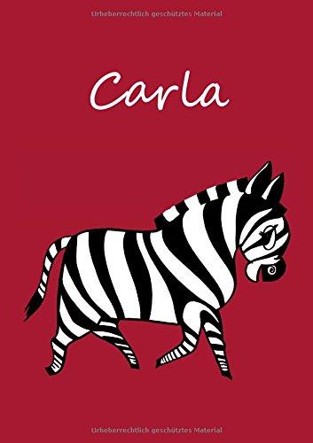 Read Online Malbuch / Notizbuch / Tagebuch - Carla: A4 -blanko - Zebra (German Edition) pdf epub