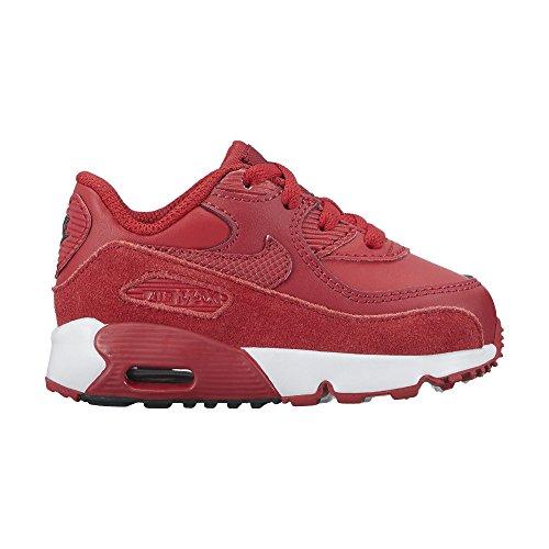 Nike Boy's Air Max 90 Leather (TD) Shoes, Gym Red/Gym-Black-White 6C