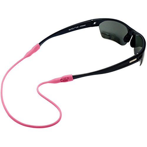 Cablz Non - Adjustable Eyeglass Retainer  Universal Fit Anti- Slip 100% Silicone Glasses Holder Strap, Pink (Retainer Sunglass Pink)