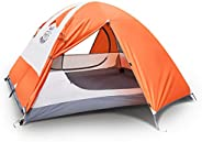 DEERFAMY 3 4 Person Tent, Waterproof Tents for Camping, Ultralight Backpacking Tent with Aluminum Poles and Ex