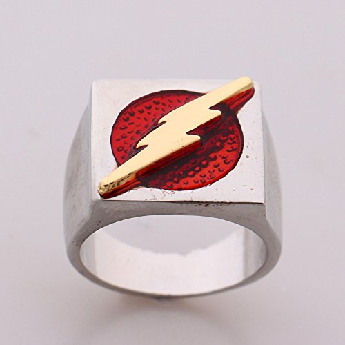 Costume Barry Halloween Allen (The Flash superhero ring size 10 red Barry Allen costume accessory Justice)