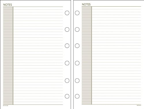 Day Runner Undated Planner Notes Refill, 5.5 x 8.5 Inches -
