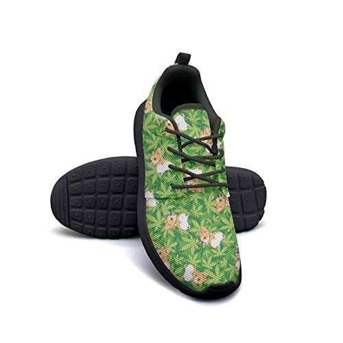 Cannabis Leaf Dog Green Running Shoes Lightweight for Women Sneaker Walking Fashion Shoes