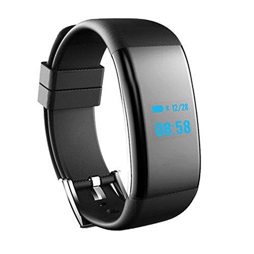 VITCHELO Activity & Fitness Tracker Watch with Sleep & Heart Rate Monitor, Pedometer, Oximeter & Blood Pressure. Smart Wristband with Bluetooth. iOS & Android Compatible (Black)