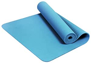 BalanceFrom GoYoga Premium 1/4-Inch Slip Resistant and Waterproof Yoga Mat with Carrying Strap (Light Blue)