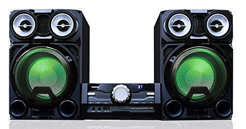 (Toshiba TY-ASW8000 800 Watt Bluetooth Stereo Sound System: Wireless Mini Component Home Speaker System with LED Lights)