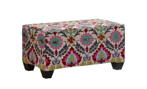 Skyline Furniture Storage Bench Santa Maria Desert Flower